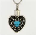 BLUE CENTER HEART