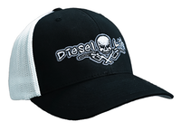 OSFA Diesel Life Black / White Trucker Hat Flex Fit