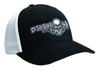 OSFA Diesel Life Black / White Trucker Hat Flex Fit