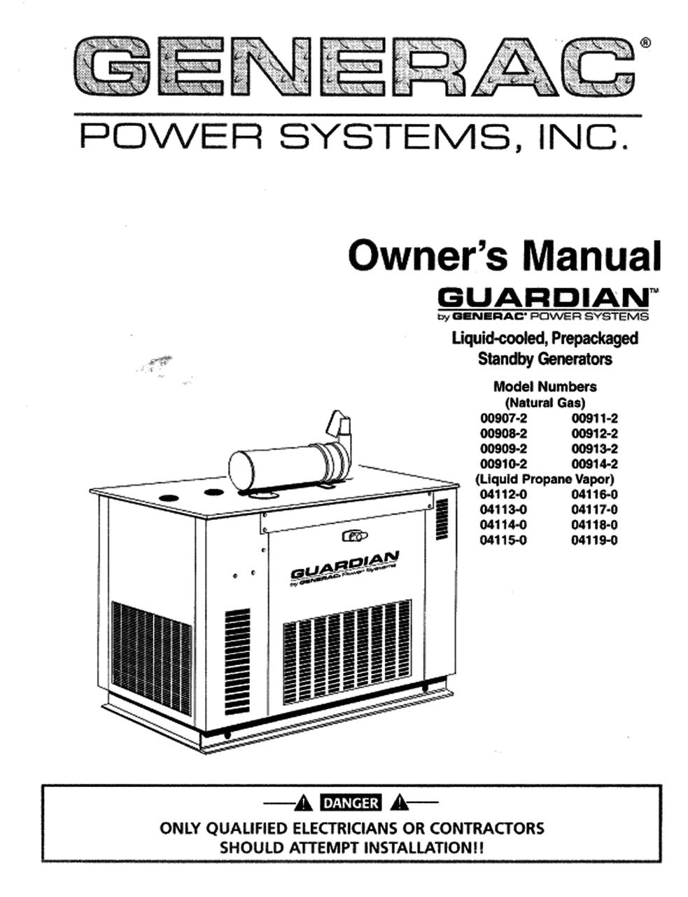 generac owners manual guardian 0c1000 rh gensysparts com guardian generator service manual guardian 15kw generator owner's manual