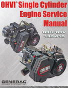 OHVI SINGLE CYLINDER SERVICE MANUAL GSH/GSV 190-410 (0C1103A)