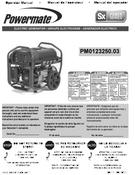 Powermate Parts Manual 0070237_0313 Pm0123250.03 092013