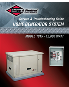 Briggs & Stratton Service & Trouble Shooting Guide 12Kw Download 275742GS