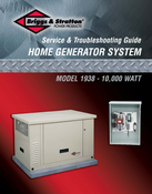 Briggs & Stratton Service & Trouble Shooting Guide No: 275948Gs 10Kw