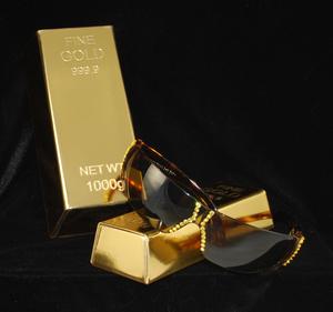 Large case w/sample Oversized Wrap Sunglasses