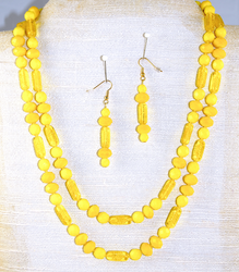 Entire view of dual necklace set