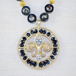 Close up of Medallion pendant