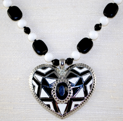 Close up view of Heart Pendant