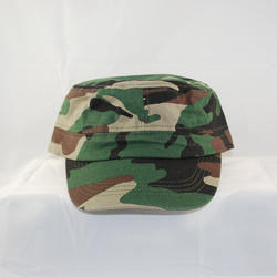 Front view to show center seam for squared cap top