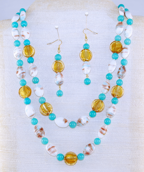 Full view of dual necklace