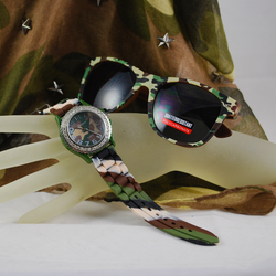 Viewed w/Camouflage scarf and Sunglasses