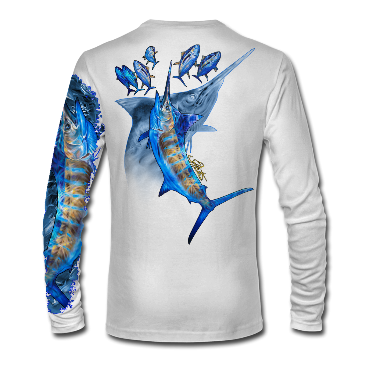 blue-marlin-it-white-shirt-jason-mathias-apparel-gear-fishing-gamefish-art-sportfish-art-tee-shirt-t-shirt-clothing.png