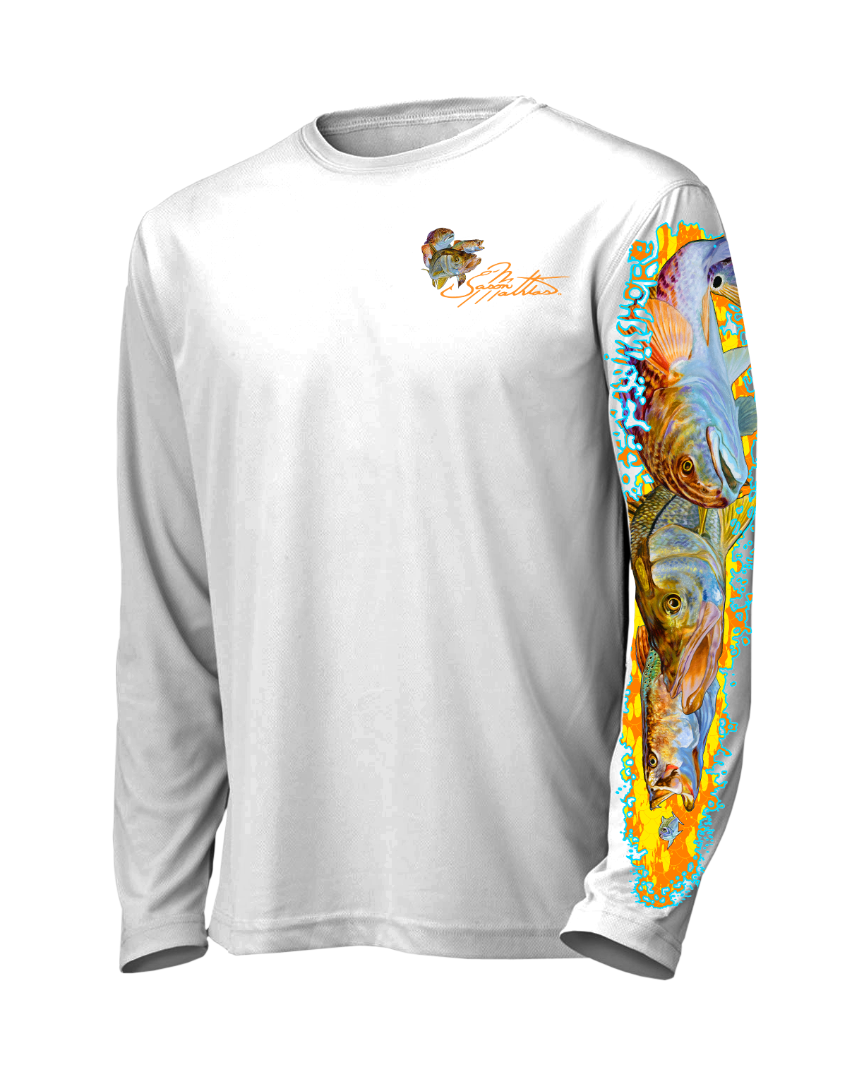 inshore-slam-shirt-white-front-jason-mathias-snook-trout-redfish.png