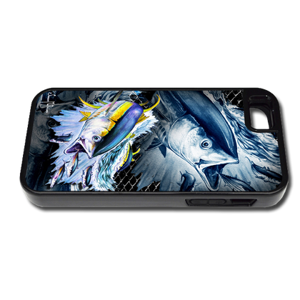 """iPhone 5 & 5s fine art phone case"" by artist Jason Mathias: Carry around this unique piece of personalized art of Yellowfin Tuna while protecting your phone all at the same time!"