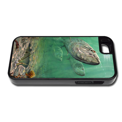 """iPhone 5 & 5s fine art phone case"" by artist Jason Mathias: Carry around this unique piece of personalized art of Tarpon patroling over a Lobster hole while protecting your phone all at the same time!"