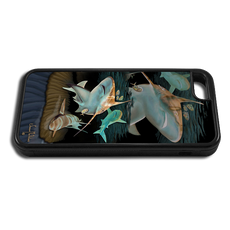 """iPhone 5c fine art phone case"" by artist Jason Mathias: Carry around this unique piece of personalized art of three sandbar sharks gliding over a sandbar while protecting your phone all at the same time!"
