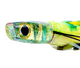 The Jason Mathias Fine Art Mahi Mahi Marlin Lure is the ultimate in big game lures. It's a slant face and long body create incredible action and is a marlin favorite on the short rigger. Rig it with a 11/0 double or 12/0 single hook set for the best results. This one is made from a beautiful piece of art on the insert by Jason Mathias. This beauty runs just like a fleeing Mahi any Marlin cant resist. All offshore lures are handmade in the USA from the finest materials.