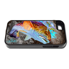 """iPhone 5 & 5s fine art phone case"" by artist Jason Mathias: Carry around this unique piece of personalized art of a beautiful Redfish while protecting your phone all at the same time!"