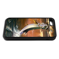"""iPhone 6 fine art phone case"" by artist Jason Mathias: Carry around this unique piece of personalized art of a leaping Tarpon framed against a blazing sunset while protecting your phone all at the same time!"