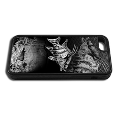 """iPhone 6 fine art phone case"" by artist Jason Mathias: Carry around this unique piece of personalized art of a Hogfish and Spiny Lobster hole in black and white while protecting your phone all at the same time!"
