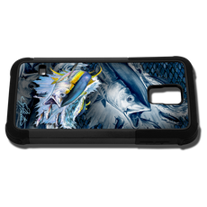 """Samsung Galaxy S5 fine art phone case"" by artist Jason Mathias: Carry around this unique piece of personalized art of Yellowfin Tuna while protecting your phone all at the same time!"