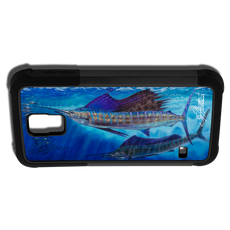 """""""Samsung Galaxy S5 fine art phone case"""" by artist Jason Mathias: Carry around this unique piece of personalized art of a Sailfish while protecting your phone all at the same time!"""