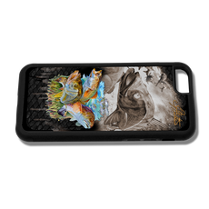 """iPhone 6 fine art phone case"" by artist Jason Mathias: Carry around this unique piece of personalized art of the three most sought after inshore species, Redfish, Trout and Snook ambushing finger mullet and greenies while protecting your phone all at the same time!"