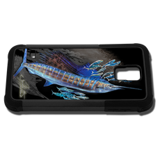 """Samsung Galaxy S5 fine art phone case"" by artist Jason Mathias: Carry around this unique piece of personalized art of a lit up Sailfish while protecting your phone all at the same time!"