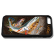 """iPhone 6 fine art phone case"" by artist Jason Mathias: This case fits the iphone 6 and the 6s. Carry around this unique piece of personalized art of a brilliant Redfish and Speckled Sea Trout ambushing a crab while protecting your phone all at the same time!"