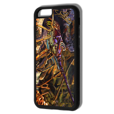 """iPhone 6 & 6s fine art phone case"" by artist Jason Mathias: Carry around this unique piece of personalized art of a Spiny Lobster in a hole on a coarl reef while protecting your phone all at the same time!  Our phone cases provide supirior quality with a double layer of protection- outer ABS plastic shell and rubber honeycomb inside for shock absorption and a well shielded sublimated aluminum fine art plate that wont fade.  Case provides effective protection from dust, damage or any other unexpected situations."