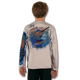 Athletic Grey  Stay cool with Jason Mathias's popular line of T Shirts for boys and girls. Catch your kids a Jason Mathias shirt to match the one that you have, or help inspire their love for their favorite fish species through a youth Jason Mathias tee. Such as this awesome scene featuring a Hulk of a Blue Marlin and Sailfish muscling their way through the open ocean. This fine art design is sublimated onto our superior technology that definitely makes for a top favorite among all young anglers and outdoor enthusiast world wide!  Say goodby to sunburns and say hello to the supreme comfort of the Jason Mathias youth Solar Performance Long Sleeve shirt! This awesome shirt offers superior sun protection and performance qualities. So comfortable that you feel like you're not even wearing a shirt! Shirt doesn't snag or catch which makes it a must when doing what you do best! Featuring up to UPF +50 solar protection, the Solar Performance Long Sleeve is lightweight, comfortable, and sure to keep the sun's rays from penetrating through to your skin. This fabric is powered by PURE-tech™ moisture wicking technology which will keep you cooler in the summer and warmer in the winter.  The Solar Long Sleeve features UPF+ 50. It is lightweight, comfortable, and sure to keep the sun's rays from penetrating through to your skin. This fabric is powered by PURE-tech™ moisture wicking technology.  Fabric: 4.1oz. / 100% Performance w/ UPF Protection  Made in USA