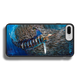 """iPhone 7 Plus fine art phone case"" by artist Jason Mathias: Carry around this unique piece of personalized art of a Striped Marlin corralling a school of Tinker Mackerel while protecting your phone all at the same time!  Our phone cases provide superior quality when compared with other slim silicone rubber cases. Our case provides a layer of silicone protection- and an extended lip to protect your phone screen from touching or rubbing on surfaces. Our cases also have a comfortable textured grip and easy access to all buttons and plugins. The art plate is extremely tough, a well shielded sublimated aluminum fine art plate that wont fade or scratch.  Case provides effective protection from dust, damage or any other unexpected situations.  (Made in the USA)"