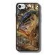 """iPhone 7 fine art phone case"""" by artist Jason Mathias: Carry around this unique piece of personalized art of a trophy size Largemouth Bass jumping out of the sun set swamps after a dragonfly while protecting your phone all at the same time!  Our phone cases provide superior quality when compared with other slim silicone rubber cases. Our case provides a layer of silicone protection- and an extended lip to protect your phone screen from touching or rubbing on surfaces. Our cases also have a comfortable textured grip and easy access to all buttons and plugins. The art plate is extremely tough, a well shielded sublimated aluminum fine art plate that wont fade or scratch.  Case provides effective protection from dust, damage or any other unexpected situations.  (Made in the USA)"""
