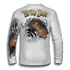 "This shirt is truly awesome, featuring Jason Mathias's fine art rendition of a Big toad of a Large Mouth Bass busting and ripping right out of the shirt after a Dragonfly is sure to catch the eye and the fish. fine art design is sublimated onto our superior technology that definitely makes for a top favorite among all anglers and outdoor enthusiast world wide! Super jumbo back art print: 22"" to 22"". Sizing: Small through 4XL! Fabric: 3.8oz. 