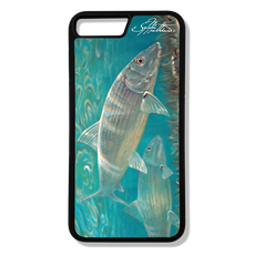 iPhone 8 plus fine art phone case by artist Jason Mathias: Carry around this unique piece of personalized art of a silvery Bonefish stalking the flats while protecting your phone all at the same time!