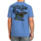 """Back (Blue) LOOKS AND FEELS JUST LIKE COTTON! This shirt is truly awesome, featuring Jason Mathias's fine art rendition of a Snook, Redfish, Tarpon and Trout inshore slam, busting right out of the shirt is sure to catch the eye and the fish. fine art design is sublimated onto our super soft cotton feel technology that allows for practical everyday use and activities.   Jason Mathias Strike Zone Cotton Feel short sleeve shirt! Advanced cotton feel technology offers performance qualities in a top quality shirt that looks and fees just like a soft cotton. So comfortable that you feel like you're not even wearing a shirt! Helps keep you cooler and drier which makes it a must when doing what you do best! The Strike Zone Cotton Feel short sleeve is super comfortable, snag free and practical for everyday activities. This fabric is powered by moisture wicking technology which will keep you cooler in the summer and warmer in the winter.   Jersey knit Moisture wicking and antimicrobial properties Snag resistant Active fit Seamed single-needle 3/4"""" collar Double-needle sleeve and bottom hems Quarter-turned to eliminate center crease 5 oz/ 100% poly  Made In America Sizing: Small though 3XL Super jumbo back sublimation art print: 22""""x22"""""""