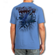 "Back (Blue) LOOKS AND FEELS JUST LIKE COTTON! This shirt is truly awesome, featuring Jason Mathias's fine art rendition of a fierce Mako Shark, busting right out of the shirt is sure to catch the eye and the fish. fine art design is sublimated onto our super soft cotton feel technology that allows for practical everyday use and activities.   Jason Mathias Strike Zone Cotton Feel short sleeve shirt! Advanced cotton feel technology offers performance qualities in a top quality shirt that looks and fees just like a soft cotton. So comfortable that you feel like you're not even wearing a shirt! Helps keep you cooler and drier which makes it a must when doing what you do best! The Strike Zone Cotton Feel short sleeve is super comfortable, snag free and practical for everyday activities. This fabric is powered by moisture wicking technology which will keep you cooler in the summer and warmer in the winter.   Jersey knit Moisture wicking and antimicrobial properties Snag resistant Active fit Seamed single-needle 3/4"" collar Double-needle sleeve and bottom hems Quarter-turned to eliminate center crease 5 oz/ 100% poly  Made In America Sizing: Small though 3XL Super jumbo back sublimation art print: 22""x22"""