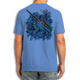 Back (Blue) LOOKS AND FEELS JUST LIKE COTTON! This shirt is truly awesome, featuring Jason Mathias's fine art rendition of a lit up Blue Marlin blasting though a school of tuna is sure to catch the eye and the fish. fine art design is sublimated onto our super soft cotton feel technology that allows for practical everyday use and activities.