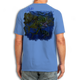 Back (Blue) LOOKS AND FEELS JUST LIKE COTTON! This shirt is truly awesome, featuring Jason Mathias's fine art rendition of a lit up Mahi Mahi, Dorado or Dolphin is sure to catch the eye and the fish. fine art design is sublimated onto our super soft cotton feel technology that allows for practical everyday use and activities.
