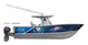 Howl at the moon while riding out with this awesome boat wrap design by Jason Mathias art: Featuring a Broadbill Swordfish glimmering in the moon lit night.