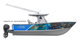 Get Marlin Madness with this killer boat wrap design by Jason Mathias art: Featuring a lit up Blue Marlin, Striped Marlin and Tunas.