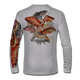 """Grey This shirt is truly awesome, featuring Jason Mathias's """"Reef Slam"""" fine art design sublimated onto our superior technology that definitely makes for a top favorite among all divers, freedivers and outdoor enthusiast world wide! Grouper, mutton snapper, lobster, hogfish, red snapper, mangrove snapper, yellowtail snapper."""