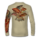"""Tan This shirt is truly awesome, featuring Jason Mathias's """"Reef Slam"""" fine art design sublimated onto our superior technology that definitely makes for a top favorite among all divers, freedivers and outdoor enthusiast world wide! Grouper, mutton snapper, lobster, hogfish, red snapper, mangrove snapper, yellowtail snapper."""