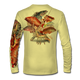 """Pale yellow This shirt is truly awesome, featuring Jason Mathias's """"Reef Slam"""" fine art design sublimated onto our superior technology that definitely makes for a top favorite among all divers, freedivers and outdoor enthusiast world wide! Grouper, mutton snapper, lobster, hogfish, red snapper, mangrove snapper, yellowtail snapper."""