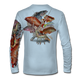 """Seagrass green This shirt is truly awesome, featuring Jason Mathias's """"Reef Slam"""" fine art design sublimated onto our superior technology that definitely makes for a top favorite among all divers, freedivers and outdoor enthusiast world wide! Grouper, mutton snapper, lobster, hogfish, red snapper, mangrove snapper, yellowtail snapper."""