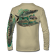 """Tan This shirt is truly awesome, featuring Jason Mathias's """"Flats Slam"""" which portrays the powerful silver king, elusive bonefish, and highly sought after permit stalking the flats sublimated onto our superior technology that definitely makes for a top favorite among all anglers, fly fisherman and outdoor enthusiast world wide!"""