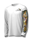 """White front view This shirt is truly awesome, featuring Jason Mathias's """"Inshore Redfish and Snook""""  fine art design sublimated onto our superior technology that definitely makes for a top favorite among all anglers and outdoor enthusiast world wide!"""