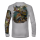 """Grey This shirt is truly awesome, featuring Jason Mathias's """"Inshore Redfish and Snook""""  fine art design sublimated onto our superior technology that definitely makes for a top favorite among all anglers and outdoor enthusiast world wide!"""