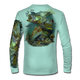 """Seagrass Green This shirt is truly awesome, featuring Jason Mathias's """"Inshore Redfish and Snook""""  fine art design sublimated onto our superior technology that definitely makes for a top favorite among all anglers and outdoor enthusiast world wide!"""