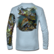 """Arctic Blue This shirt is truly awesome, featuring Jason Mathias's """"Inshore Redfish and Snook""""  fine art design sublimated onto our superior technology that definitely makes for a top favorite among all anglers and outdoor enthusiast world wide!"""